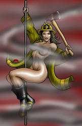 Firegirl Smoking