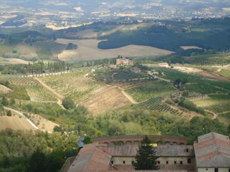 Magnifique vue sur la Toscane