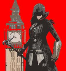Evie Frye Big Ben RED