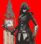 Evie Frye Big Ben RED by linkpogo