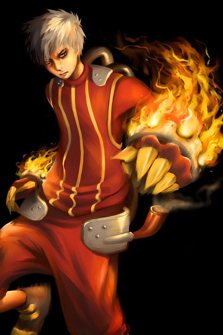 Pokemon Gijinka: HEATMOR RAWR by Dagneo on DeviantArt for Heatmor Pokemon  177nar