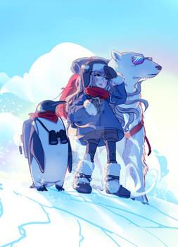 Polar exploration team