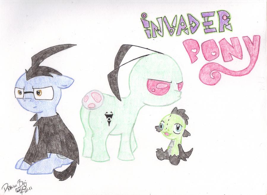 Invader Pony FML by xXxDragonsHeartxXx