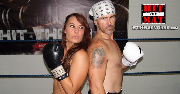 Allie Parker vs Man by boxingwrestling