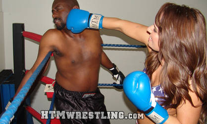 Allie Beating Darrius by boxingwrestling