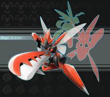 Mega Scizor by SilentGPanda