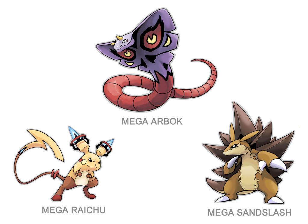 Kanto Mega Pokemon 024 026 028 By Silentgpanda On Deviantart