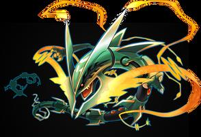 Mega Rayquaza by SilentGPanda