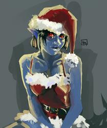 Christmas (Dark) Elf by Kwerp