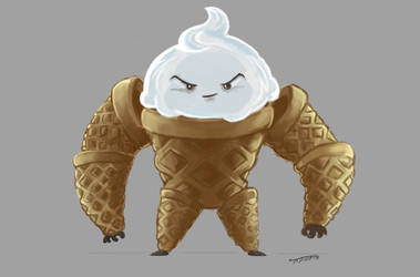 Golem de Barquilla - or - the Ice cream Golem by ToferVs