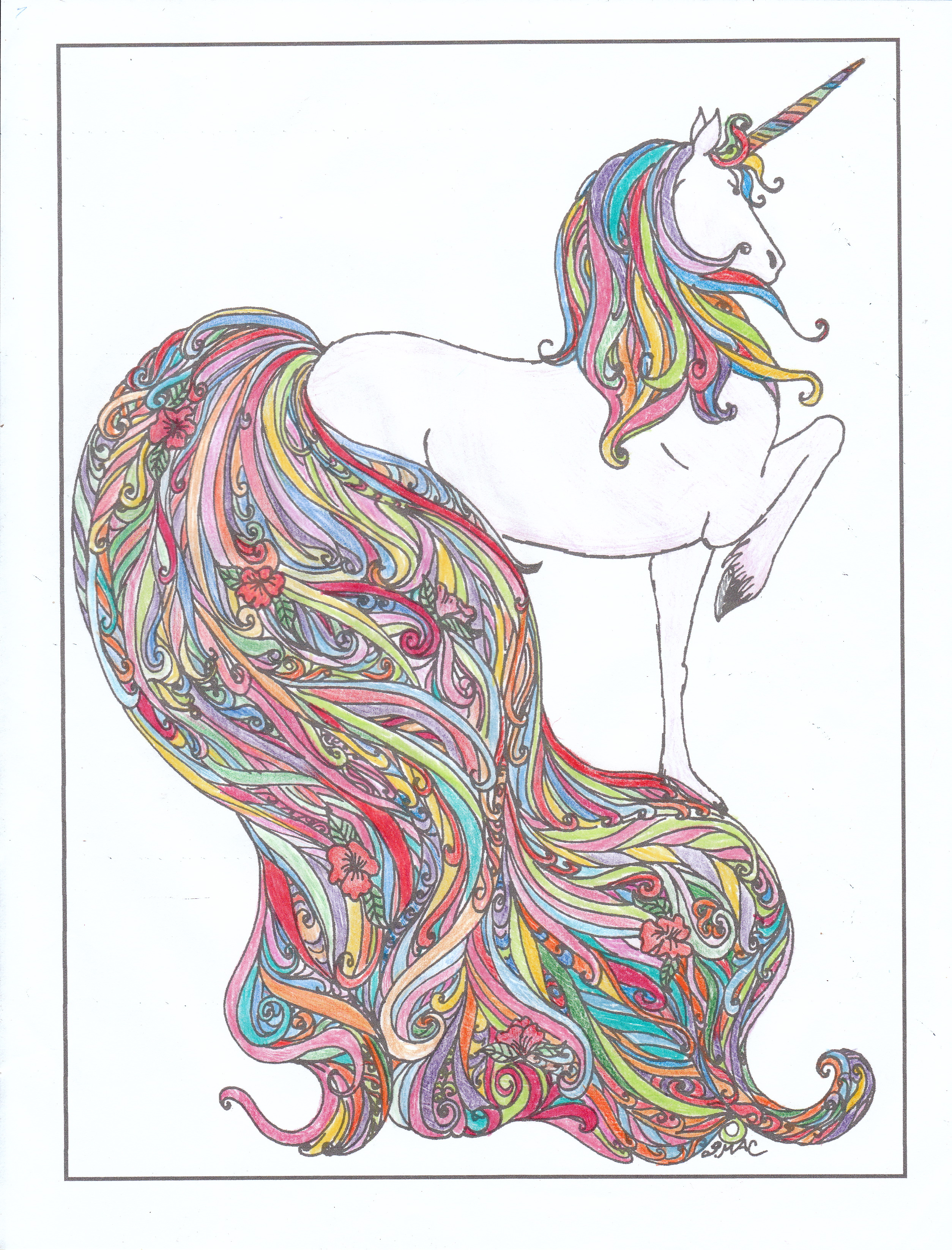 Coloring pages unicorn rainbow - Realistic Unicorn Coloring Pages Unicorn Rainbow Coloring Page Instant Download Coloring Page Printable Coloring