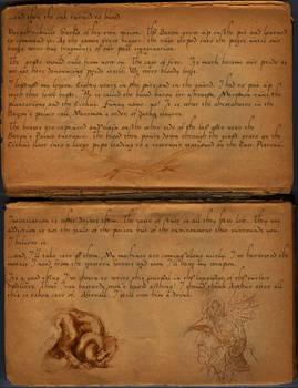Darka: Hermit's Journal page 2 alternate font