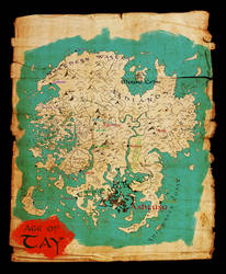Myst: Map of Tay (Colored Version)