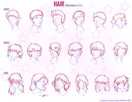hair reference sheet by Chicoritango