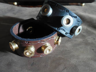 'Bullet Bracelet' Leather Cuffs
