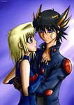 Tea and Yusei by lorellashray