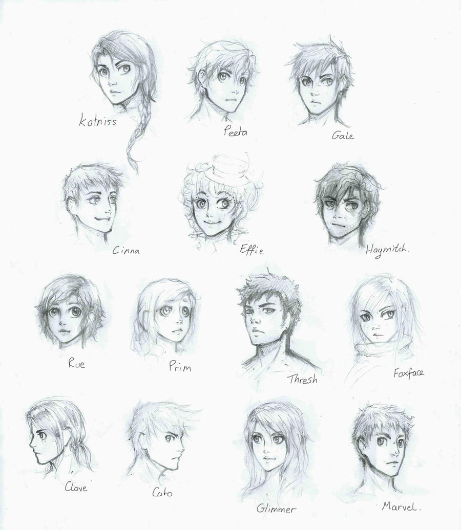 The Hunger Games: character sheet by lorellashray