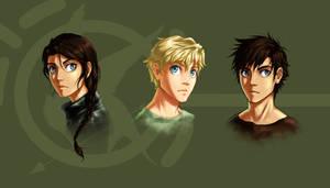 The Hunger Games trio by lorellashray