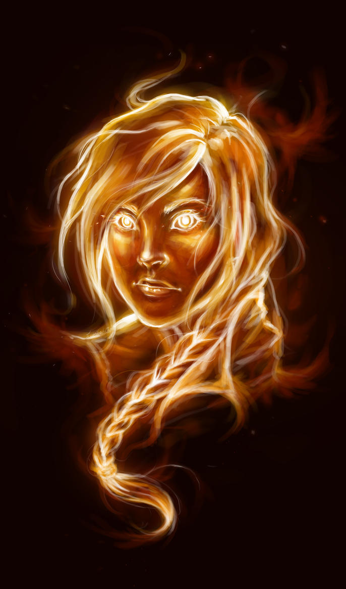 The Girl on Fire by lorellashray on DeviantArt for Girl With Fire In Hands  535wja