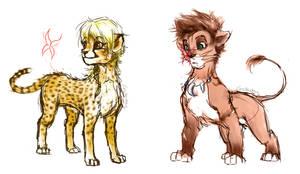 Aden and Gwen - Pridelands' forms by lorellashray