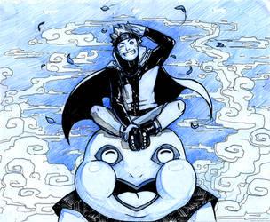 Naruto and Gamatatsu by lorellashray