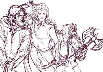 Lotr Trio by lorellashray