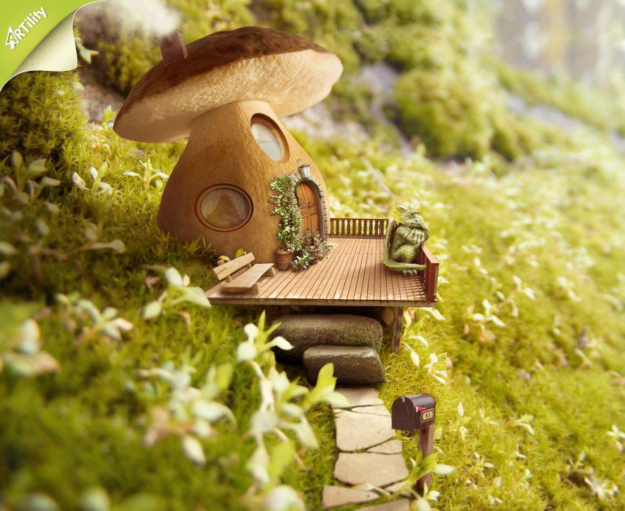 Mushroom house by GestiefelteMieze