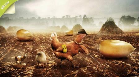 Even a blind hen.... by GestiefelteMieze
