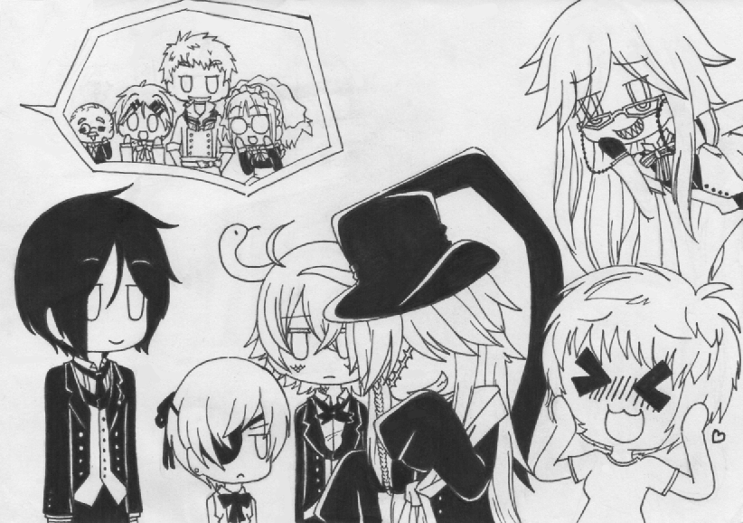 Chibi Black Butler Fan Art By SapphireMiuJewel