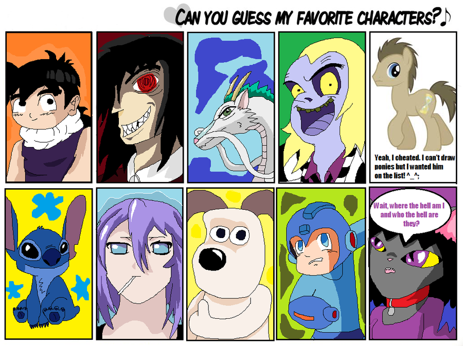 Favourite Character Meme by LaLaLaNiceLady