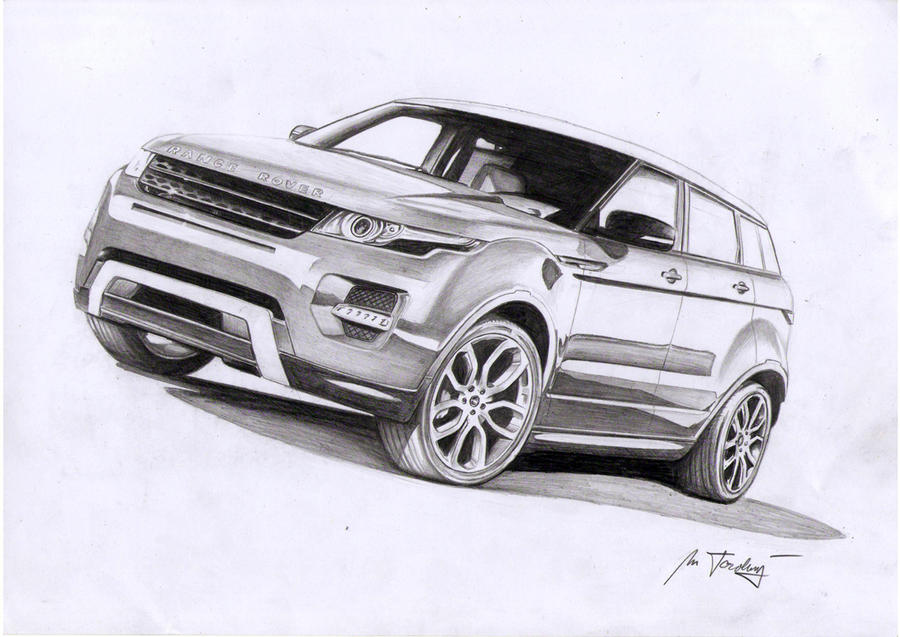 It's just a graphic of Insane Range Rover Drawing