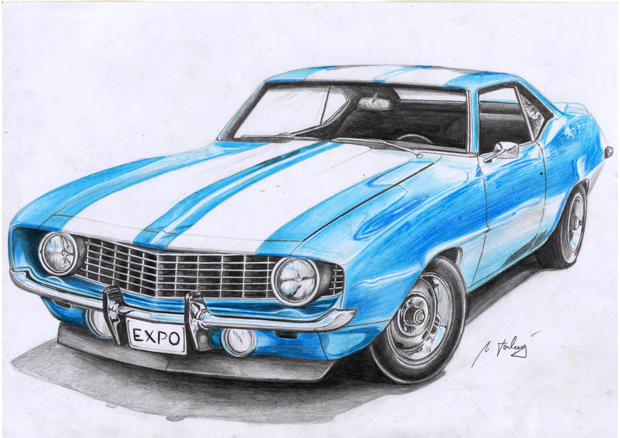 1969 camaro drawing