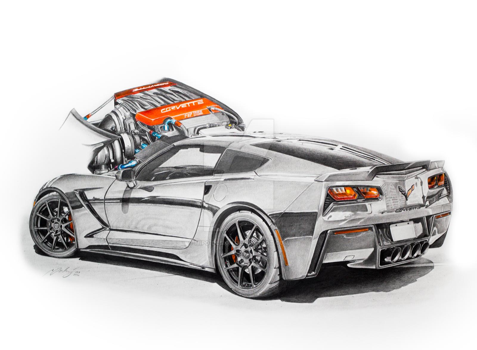 Graphite Car Drawings   SVTPerformance.com