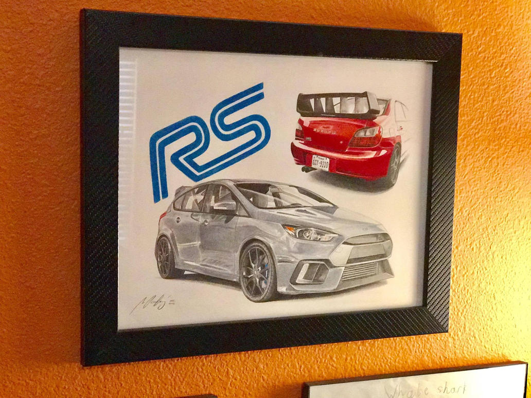 ford_focus_rs_framed_on_the_wall_by_mipo