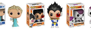 Vegeta, Elsa and Frieza Pop! for sale