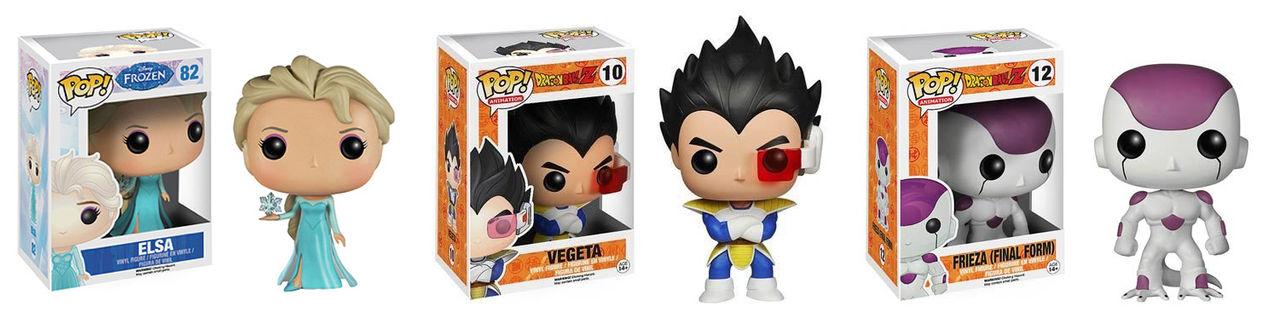Vegeta, Elsa and Frieza Pop! for sale