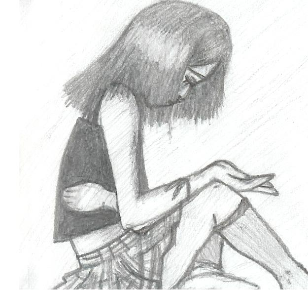 Depressed Girl.. by Scarfication-Blood on DeviantArt