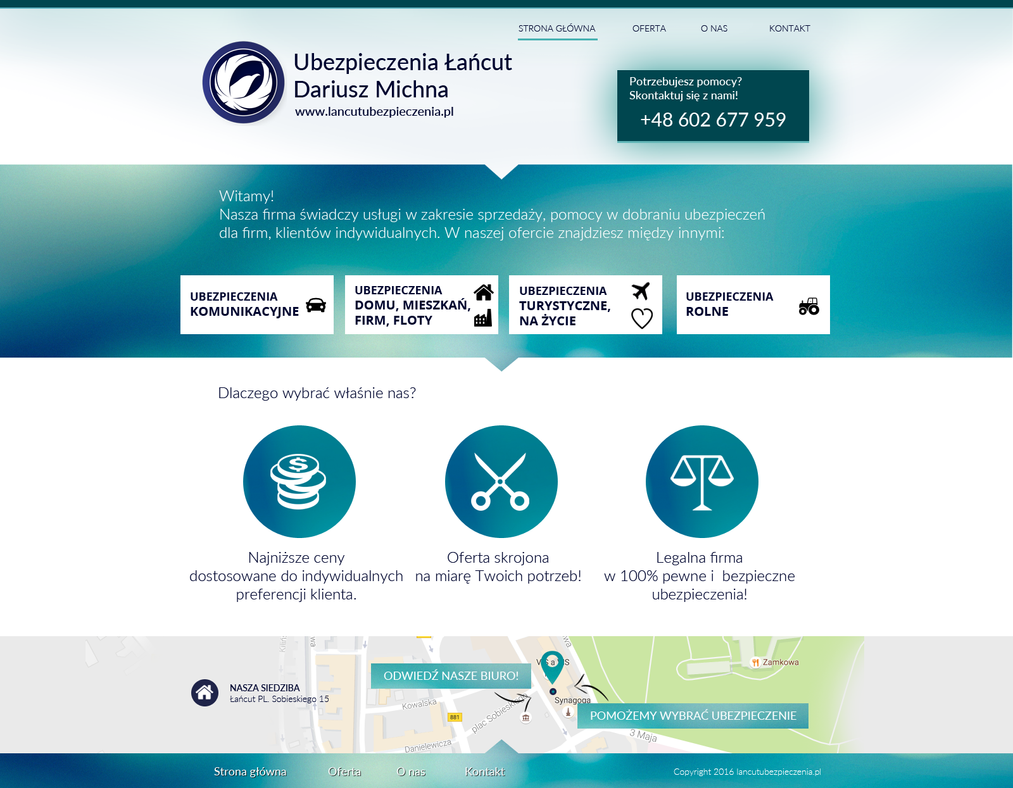 Lancutubezpieczenia.pl - insurances - main page by miguslaw