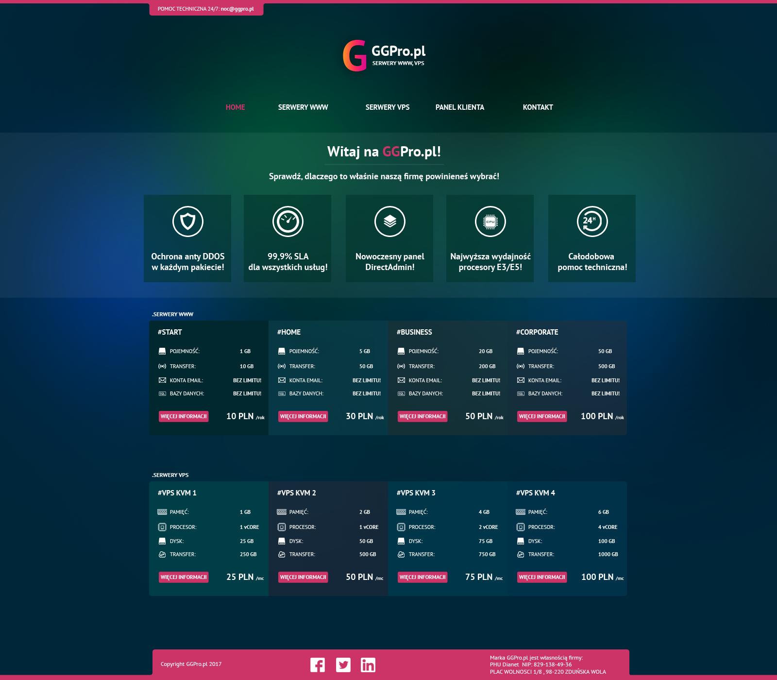 GGPro.pl - Hosting, vps by miguslaw