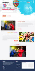 Domino-Magic - illusionist webpage / kids section by miguslaw