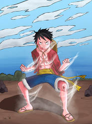Luffy (Commission work) by Ivas-Art-Adventures