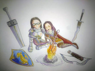 Anniversary Watercolours Art for my BF by Ivas-Art-Adventures