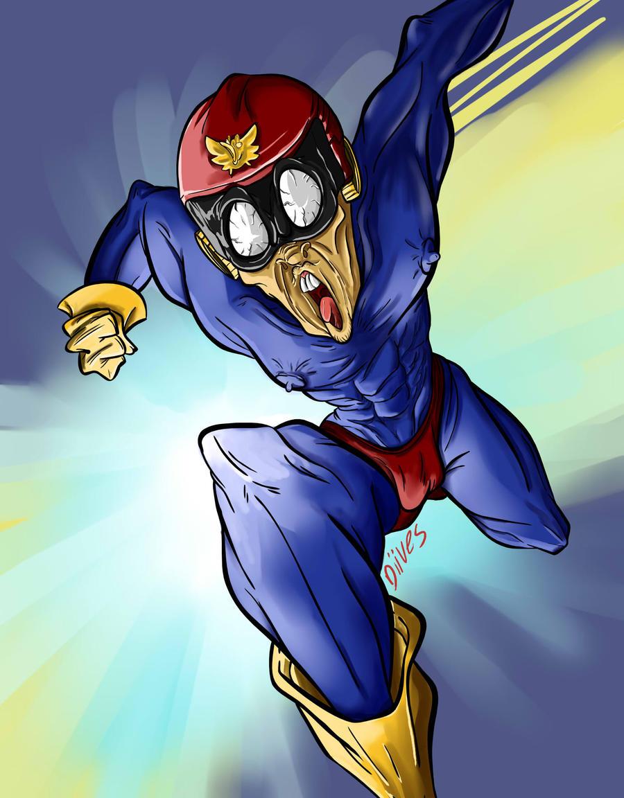 Hyper captain falcon by Diives