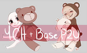 YCH Teddy Bear + P2U Bases  OPEN Paypal and Points by Celiicmon