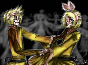 Kakome Kakome :Rin:Len: by Altalia