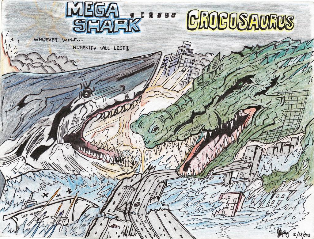 MEGA SHARK vs CROCOSAURUS Poster by AVGK04 on DeviantArt