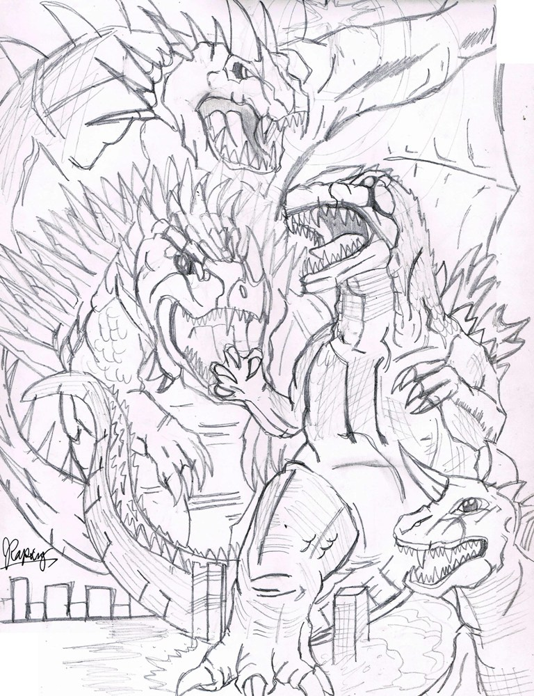 baragon coloring coloring pages
