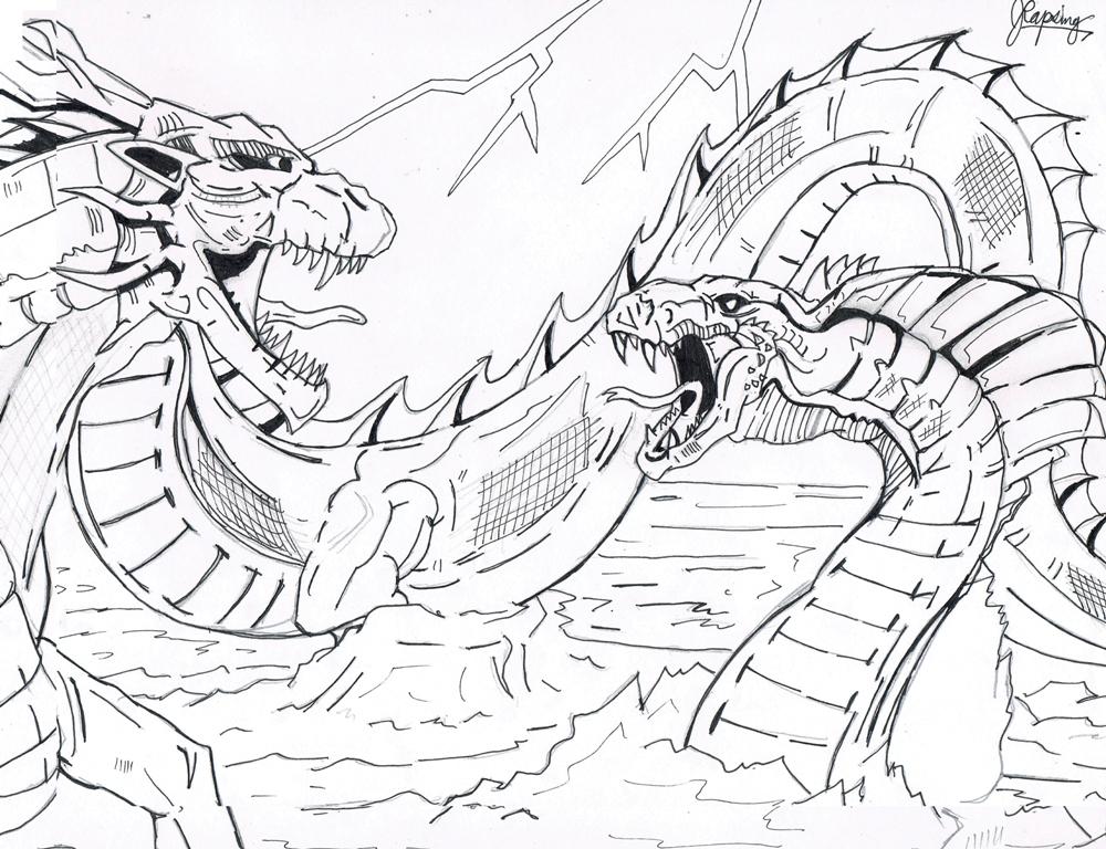 D-WAR: Celestial Dragon vs Buraki (Lines) by AVGK04 on ...