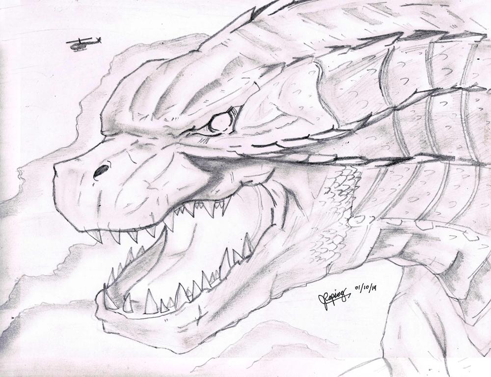 Godzilla 2014 sketch by AVGK04Godzilla 2014 Sketch
