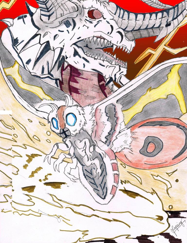 Lost Project: Mothra vs Bagan by AVGK04